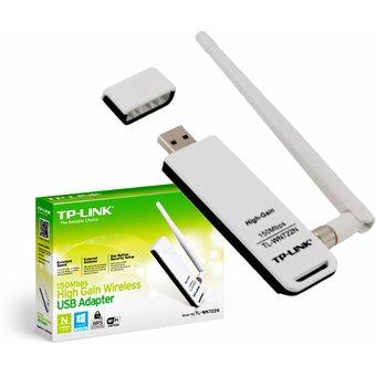 TARJETA RED WIRELESS TP LINK  USB 150 MBPS 2.4GHZ 4dBi TL-WN722N